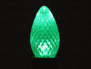 C7 SMD Faceted Style Green