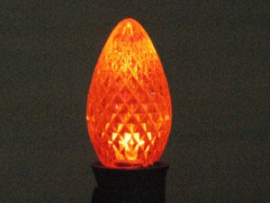 C7 SMD Faceted Style Orange