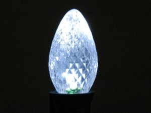 C7 SMD Faceted Style Pure White